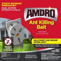 Amdro Ant Killer Bait Stations for Indoor & Outdoor, 8 Pack