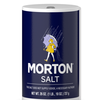 Morton Table Salt, All-Purpose Non-Iodized Salt for Cooking, Seasoning, and Baking, 26 OZ Canister