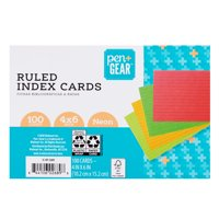 Pen + Gear Ruled Index Cards, Neon, 100 Count