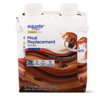Equate Meal Replacement Milk Chocolate Shake, 44 Oz., 4 Count
