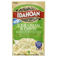 Idahoan Sour Cream and Chives Mashed Potatoes - Gluten-Free, Real Idaho Potatoes - 1 Pouch (4 Servings)