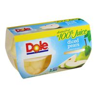 Dole Fruit Bowls, Diced Pears in 100% Fruit Juice
