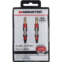 Monster® Auxiliary Stereo Audio Cable 4ft