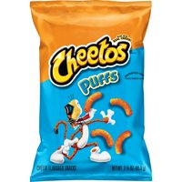 Cheetos Puffs Cheese Flavored Snacks, 3.375 oz Bag