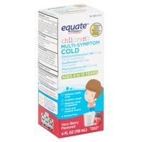 Equate Children's Very Berry Flavored Multi-Symptom Cold Liquid, Ages 4 to 12 Years, 4 fl oz
