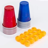 Majik Ka-Pong Foldable Multiplayer Party Game, 22 Cups and 15 Balls