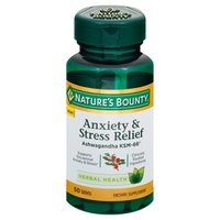 Nature's Bounty Herbal Health, Anxiety & Stress Relief, Tablets, Bottle