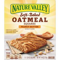Nature Valley Oatmeal Squares, Soft-Baked, Peanut Butter