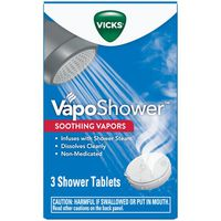 V VapoShower Aromatherapy Shower Bomb, Soothing Vicks Vapor Steam