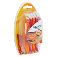 Equate Triple Blade Disposable Razors for Women, 4 Count