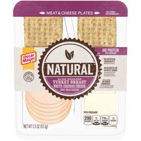 Oscar Mayer Natural Slow Roasted Turkey Breast & White Cheddar Meat & Cheese Plate