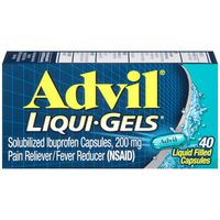 Advil Pain Reliever / Fever Reducer Liquid Filled Capsule 200mg Ibuprofen Temporary