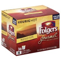 Folgers Morning Cafe Coffee, Mild Roast, K-Cup Pods for Keurig K-Cup Brewers, 36-Count