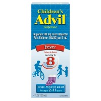 Children's Advil Liquid Fever Reducer/Pain Reliever, 100 mg Ibuprofen - Grape Flavor - 4 fl oz