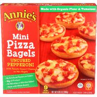Annie's Homegrown Uncured Pepperoni Mini Pizza Bagels  Count