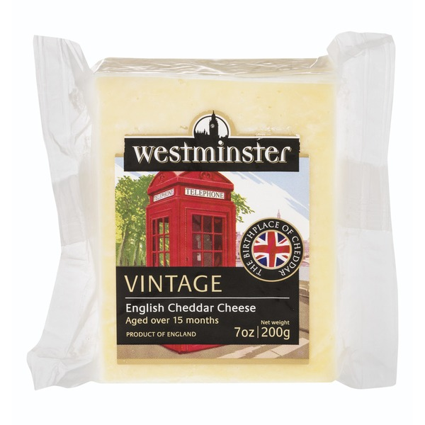 Westminster Aged English Cheddar Cheese Vintage