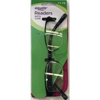 Equate Women's Rose +1.25 Reading Glasses with Case, Black (7 Powers Available)