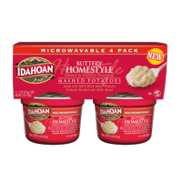 Idahoan Buttery Homestyle Mashed Potatoes Cup, 1.5 oz (Pack of 4)