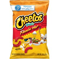 Cheetos Puffs Flamin' Hot Cheese Flavored Snacks, 3 oz Bag
