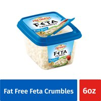 President Fat Free Feta Crumbled Cheese, 6 oz