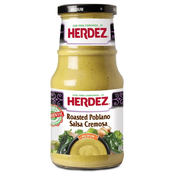 Herdez Roasted Poblano Medium Salsa Cremosa Dip