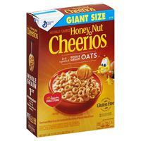 Cheerios Cereal, Whole Grain Oat, Honey Nut, Giant Size
