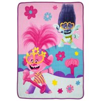 "Trolls World Tour Throw, Kids Bedding, Super Soft Plush Microfiber, 46"" x 60"""