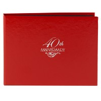 40th Anniversary Guest Book - Red