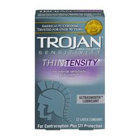 Trojan Thintensity Ultrasmooth Lubricated Condoms - 12 Count