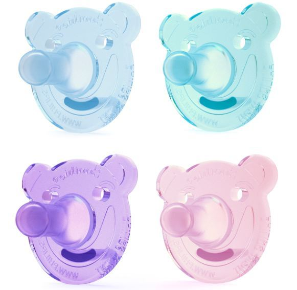 Philips Avent Soothie Pacifier, 0-3 months, (Colors May Vary), Bear Shape, 2 pack, SCF194/00