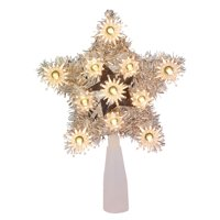 Holiday Time 11 UL 6 In Tinsel Silver/Clear Tree Topper