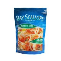Frozen Raw Bay Scallops, 80-120 Count, 1 lb