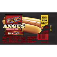 Ball Park® Angus Beef Hot Dogs, Bun Size Length, 8 Count