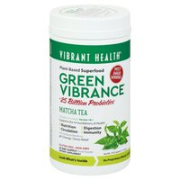 Vibrant Health Green Vibrance, Matcha Tea, Drink Powder