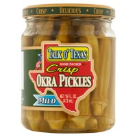 Talk O' Texas Mild Okra Pickles, 16 fl oz