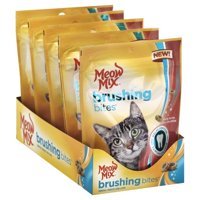 Meow Mix Brushing Bites Cat Dental Treats Made with Real Chicken, 2.25-Ounce Bag