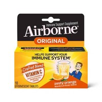 Airborne Immune Support Supplement Dissolving Tablets - Zesty Orange - 10ct