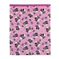 Disney Minnie Mouse Pink, White, Toddler Blanket with Satin Trim