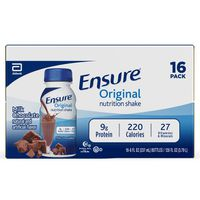 Ensure Original Nutrition Shake Milk Chocolate Ready-to-Drink Bottles