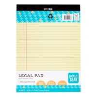 "Pen + Gear Legal Pad, Canary, 8.5"" x 11.75"", 50 Sheets"