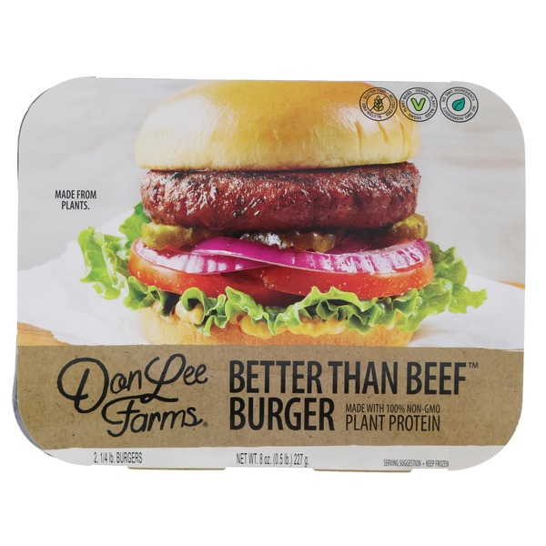 Don Lee Farms Plant Protein Better Than Beef Burger