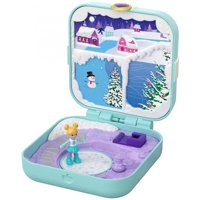 Polly Pocket Frosty Fairytale Playset with 3 Hidden Surprises