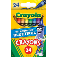 Crayola Classic Crayons Featuring Bluetiful, 24 Count