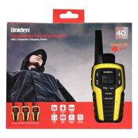 Uniden 40 Mile Range Emergency Two-Way Radios, Black & Yellow (3 Pack)