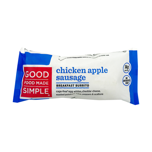 Good food made simple Chicken Apple Sausage Breakfast Burrito, 5 oz