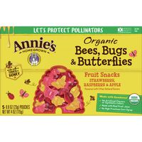 Annie's Homegrown Annie?s Bees Bugs and Butterflies Fruit Snacks