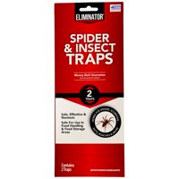Eliminator Spider and Insect Traps, Single Use Pest Traps, 2 count