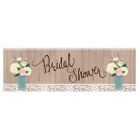 Rustic Wedding Bridal Shower Banner, each
