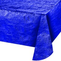 Ways to Celebrate Reversible Table Cover, Cobalt, 54 inches x 84 inches