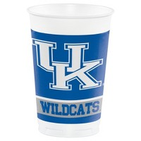 8ct University Of Kentucky Wildcats Plastic Cups